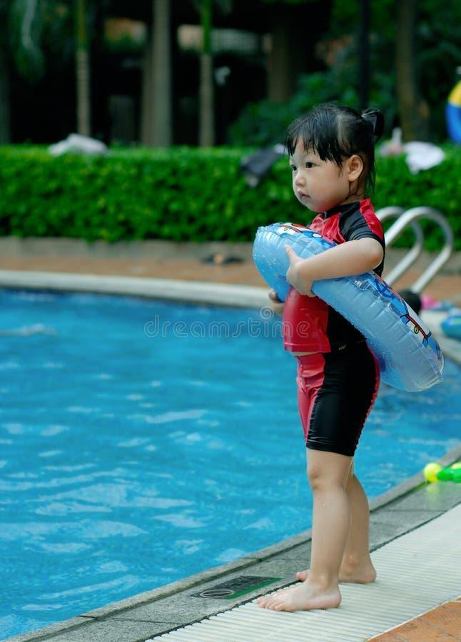 заплывание ребенка стоковые изображения rf