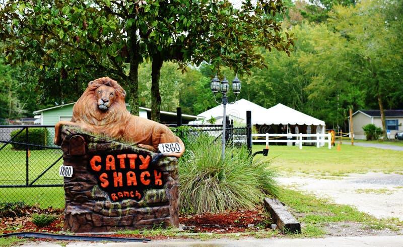 Заповедник ранчо лачуги Флориды catty стоковое фото