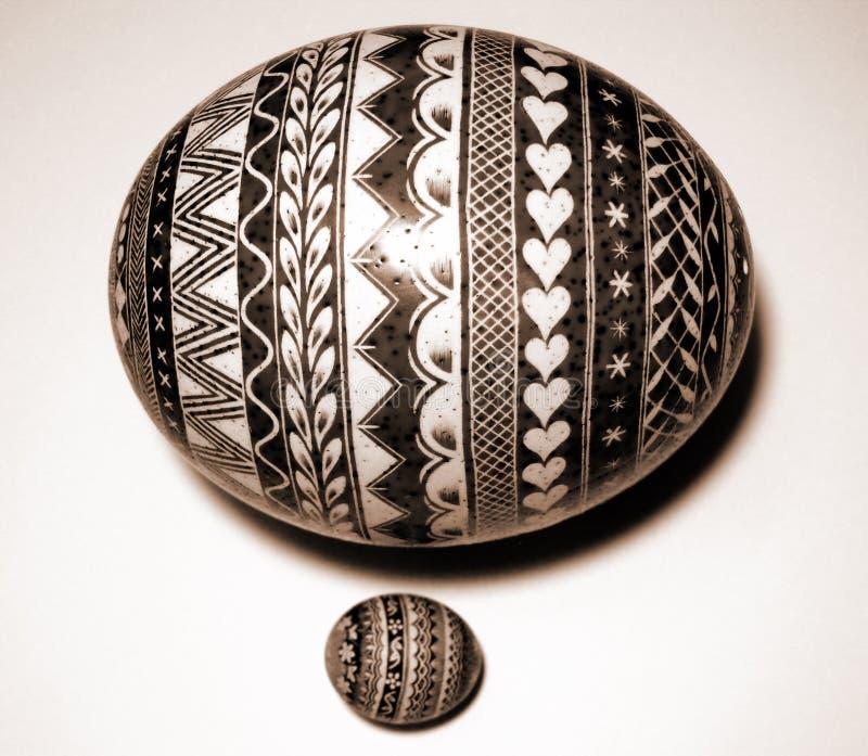 заполированность страуса пасхального яйца стоковые изображения rf