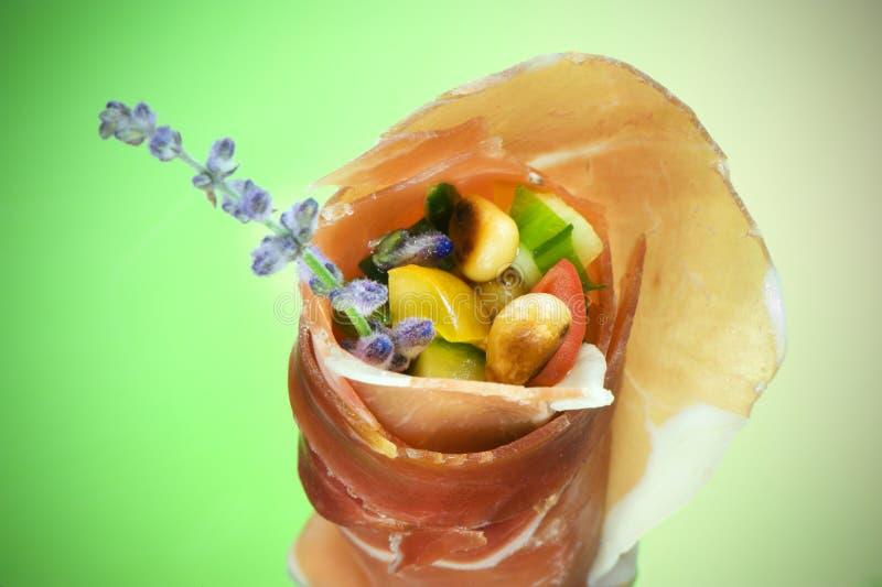 заполненная ветчина закуски стоковое изображение