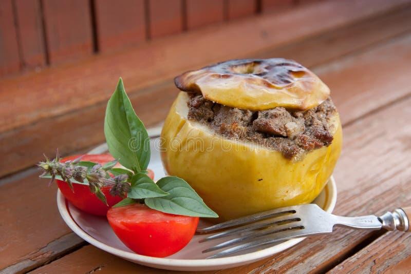 заполненное мясо яблока стоковая фотография