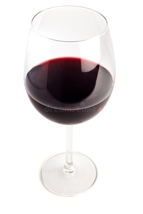 заполненное стеклянное красное вино стоковые изображения rf