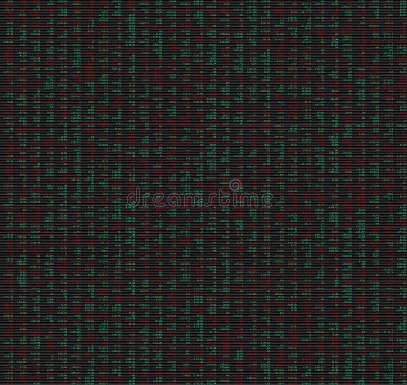 заполненные данные нумеруют таблицу стоковое изображение rf