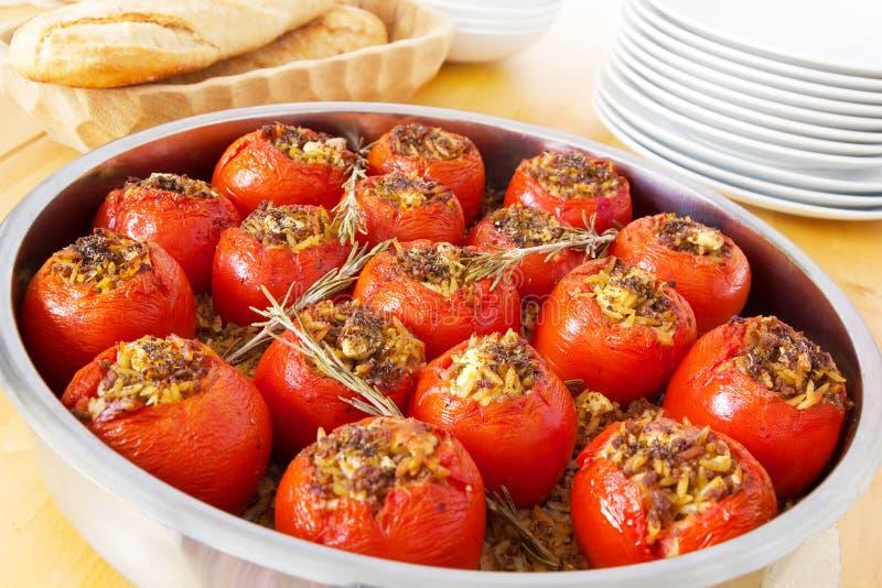 Заполненные томаты стоковое изображение rf