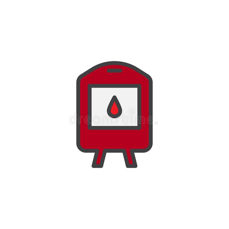 Заполненный переливанием крови значок плана бесплатная иллюстрация