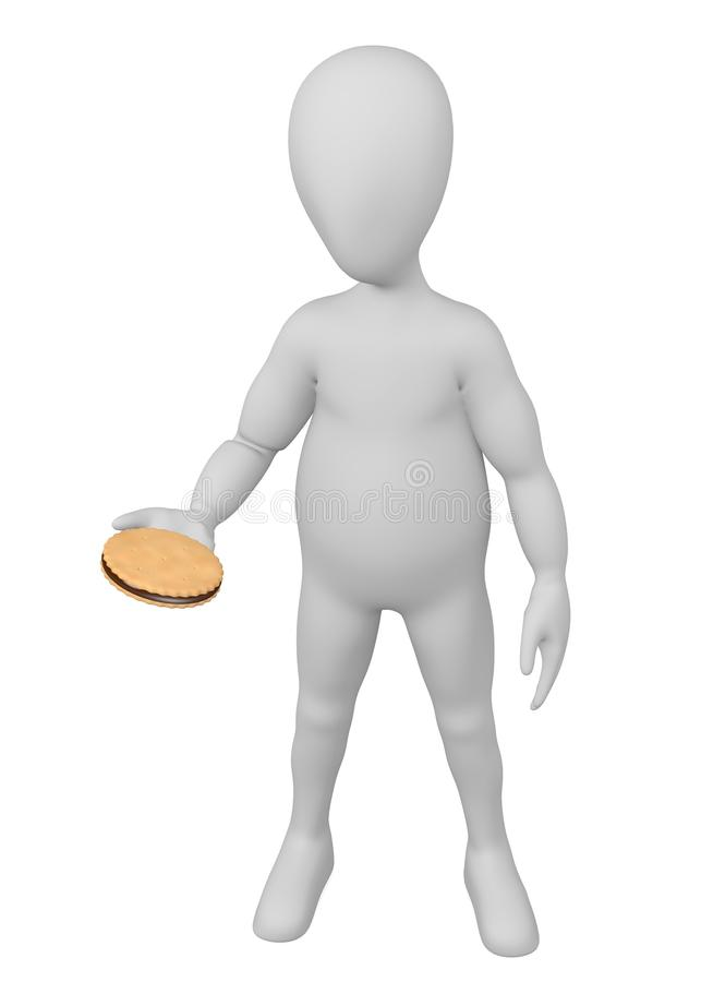 заполненный шоколад характера печенья бесплатная иллюстрация