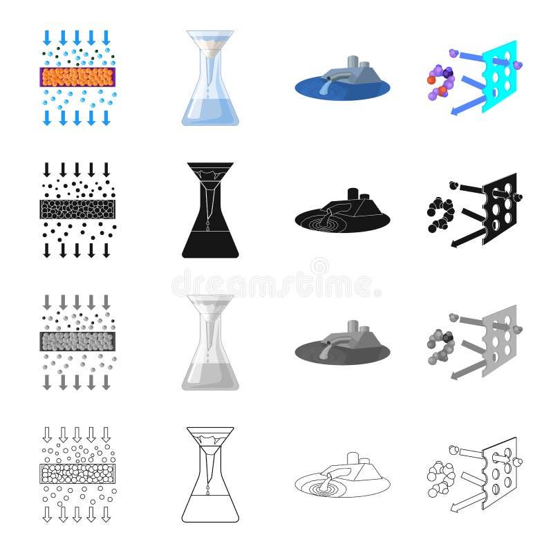 Заполнитель, фильтр, система и другой значок сети в стиле шаржа Инструменты, машинное оборудование, середины, значки в собрании к иллюстрация штока
