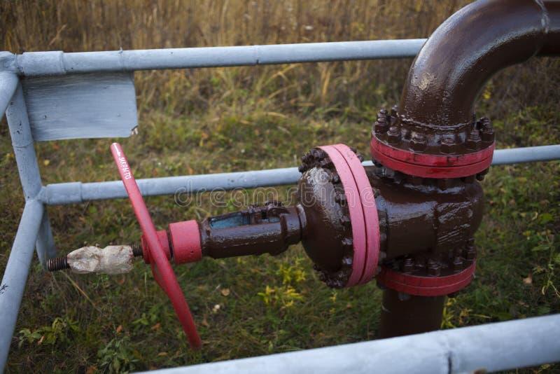 Запорный клапан для disconnected масляного насоса Россия, Bashneft, Rosneft стоковое изображение