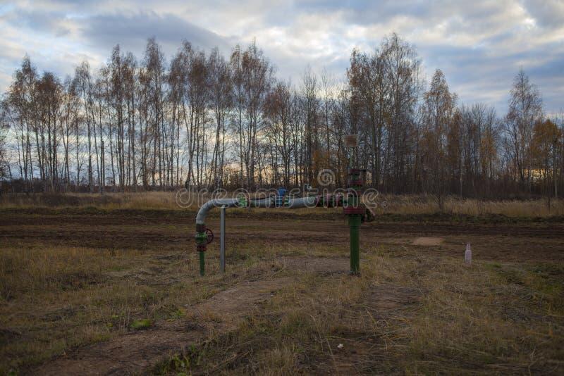 Запорный клапан для disconnected масляного насоса Россия, Bashneft, Rosneft стоковая фотография