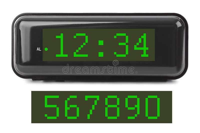 заполнение чисел часов цифровое получает как раз СИД правыми к ненужное поднимающему вверх стоковое фото rf