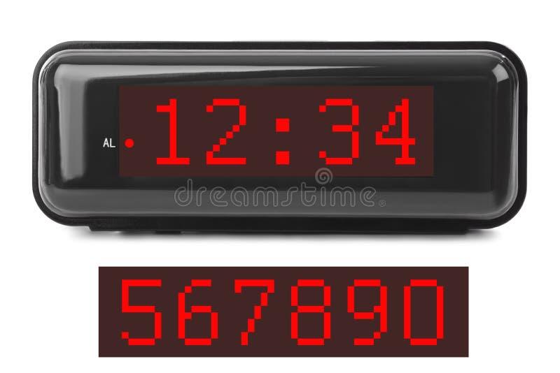 заполнение чисел часов цифровое получает как раз СИД правыми к ненужное поднимающему вверх стоковое изображение rf