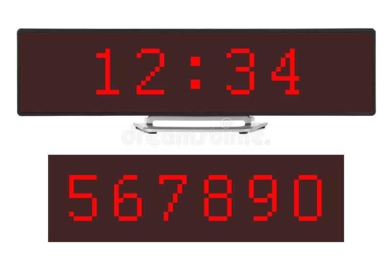 заполнение чисел часов цифровое получает как раз СИД правыми к ненужное поднимающему вверх бесплатная иллюстрация