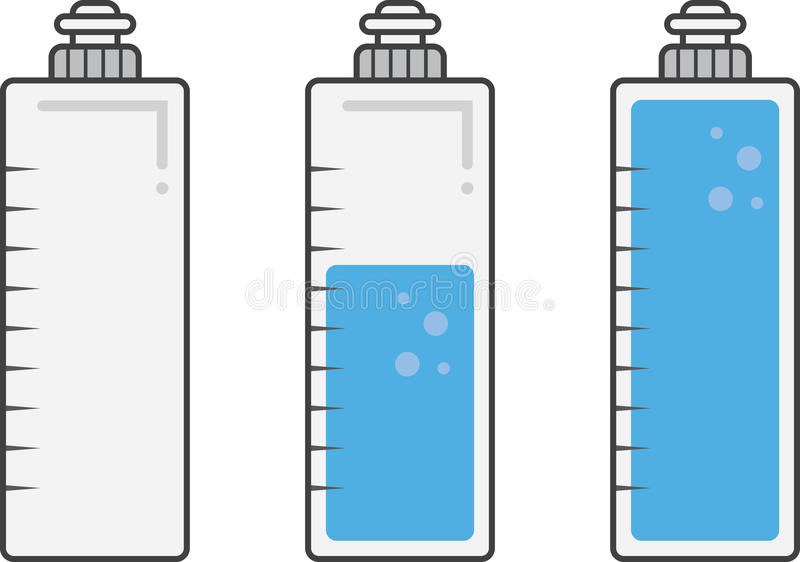Заполнения бутылки с водой бесплатная иллюстрация