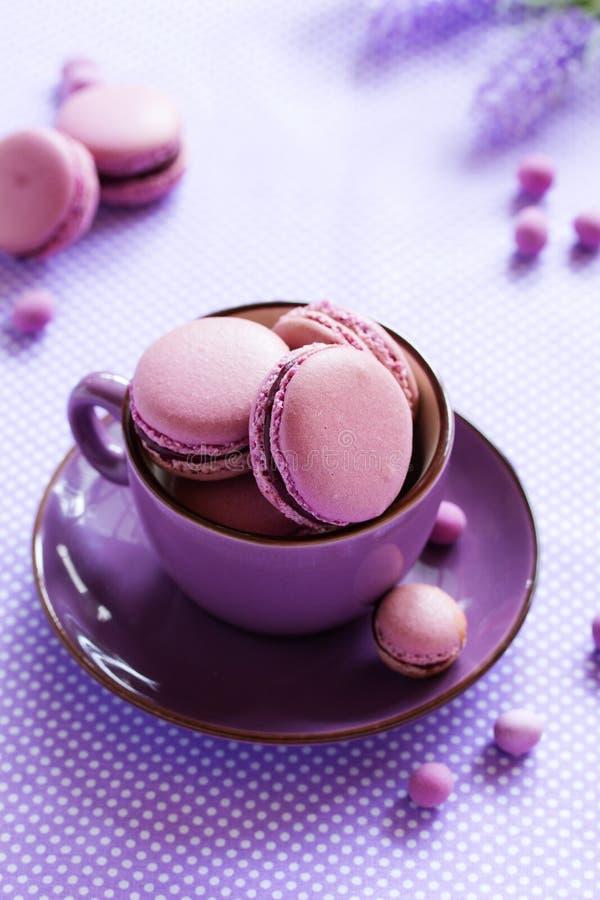 Заполненные печенья Makarons французские стоковое изображение rf