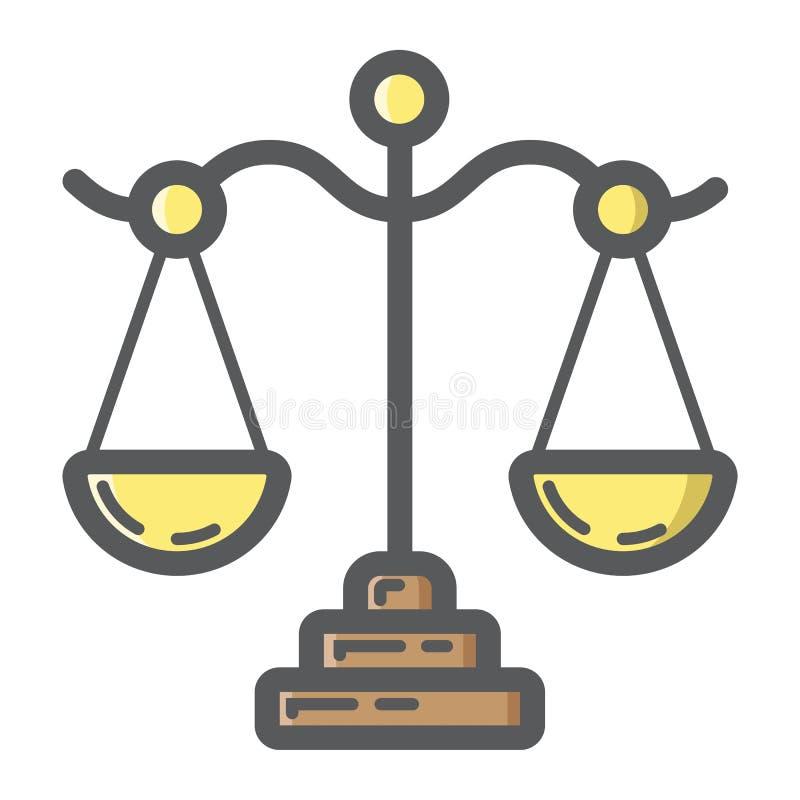 Заполненные Libra значок, дело и финансы плана иллюстрация вектора