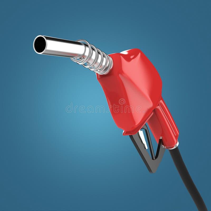 заполняя оружие сопло газа дозаправляя, бензиновая колонка представляет иллюстрация вектора
