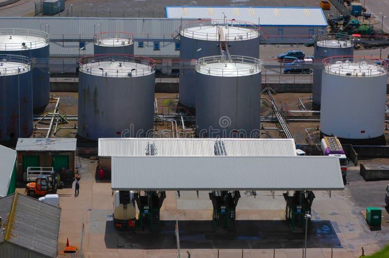 заправлять топливом депо стоковая фотография rf