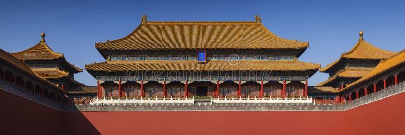 Запретный город, дворец Гугун в Пекине стоковое фото rf