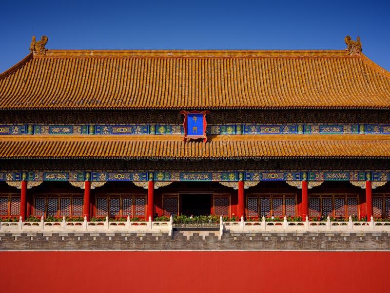Запретный город, дворец Гугун в Пекине стоковые изображения rf