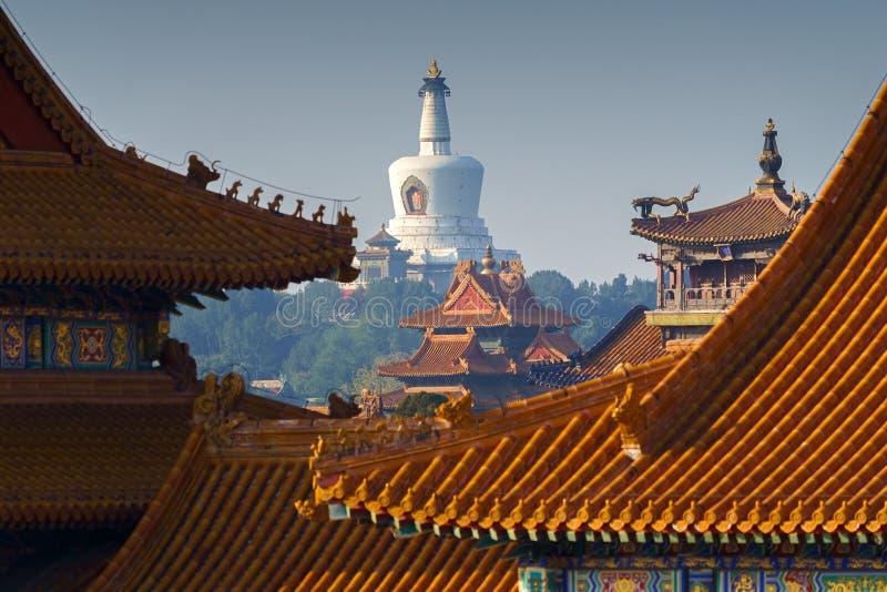 Запретный город, дворец Гугун в Пекине стоковое изображение