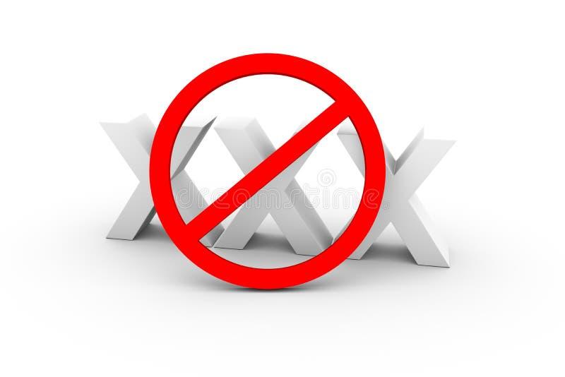 Запрет на xxx иллюстрация штока
