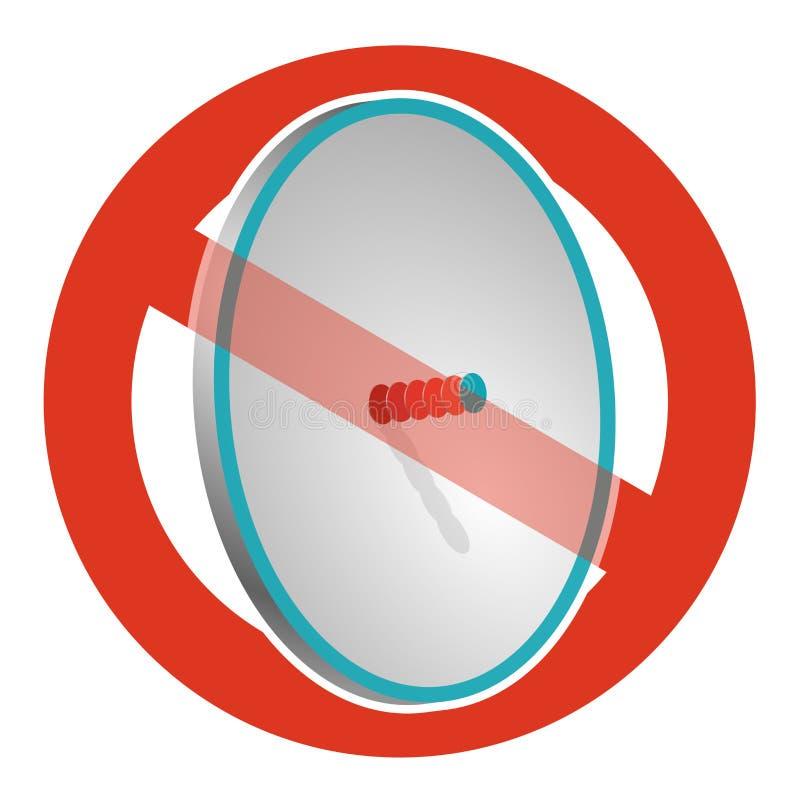 Запрет спутниковой антенна-тарелки Строгий запрет на конструкции антенны передачи, запрещает Остановите сигналы телефона и телеви бесплатная иллюстрация