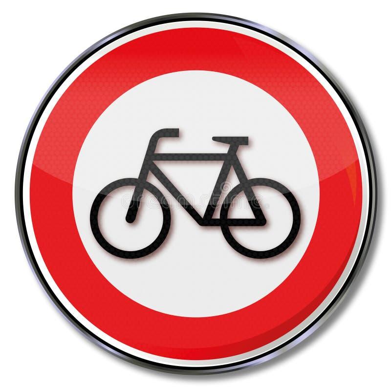 Запрет для велосипедов иллюстрация штока