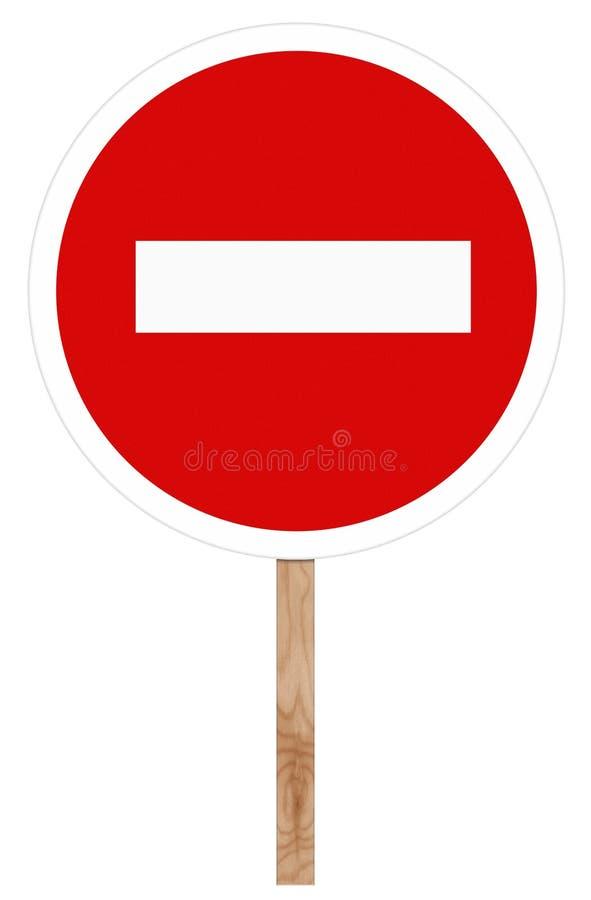 Запрещающий знак уличного движения - отсутствие входа стоковые фотографии rf
