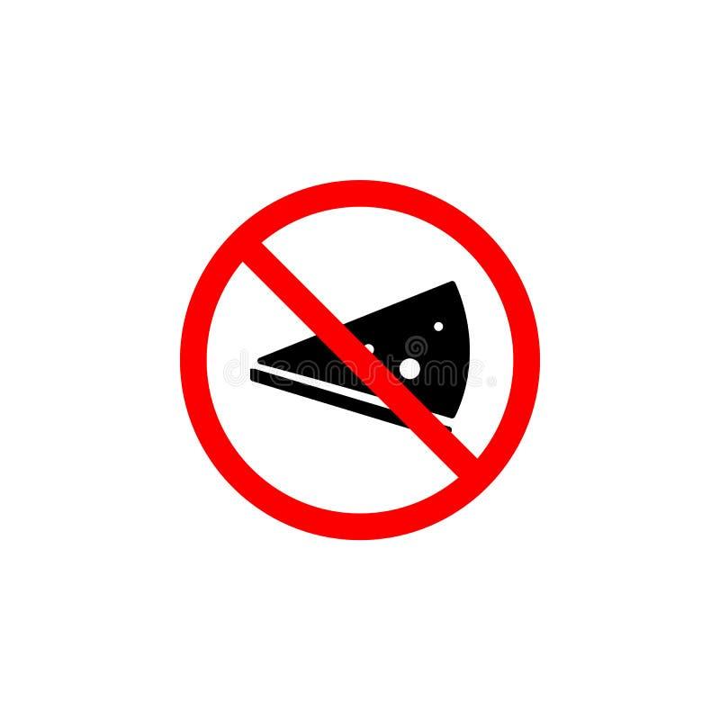 Запрещенную пиццу, есть значок на белой предпосылке можно использовать для сети, логотипа, мобильного приложения, UI UX бесплатная иллюстрация