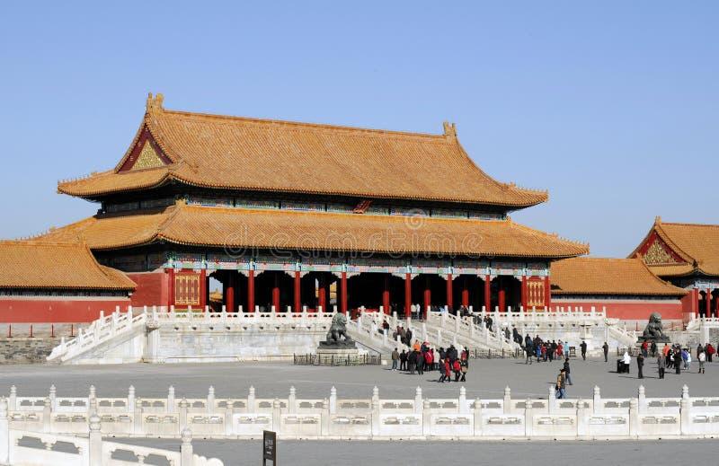 запрещенный городом имперский дворец музея стоковая фотография