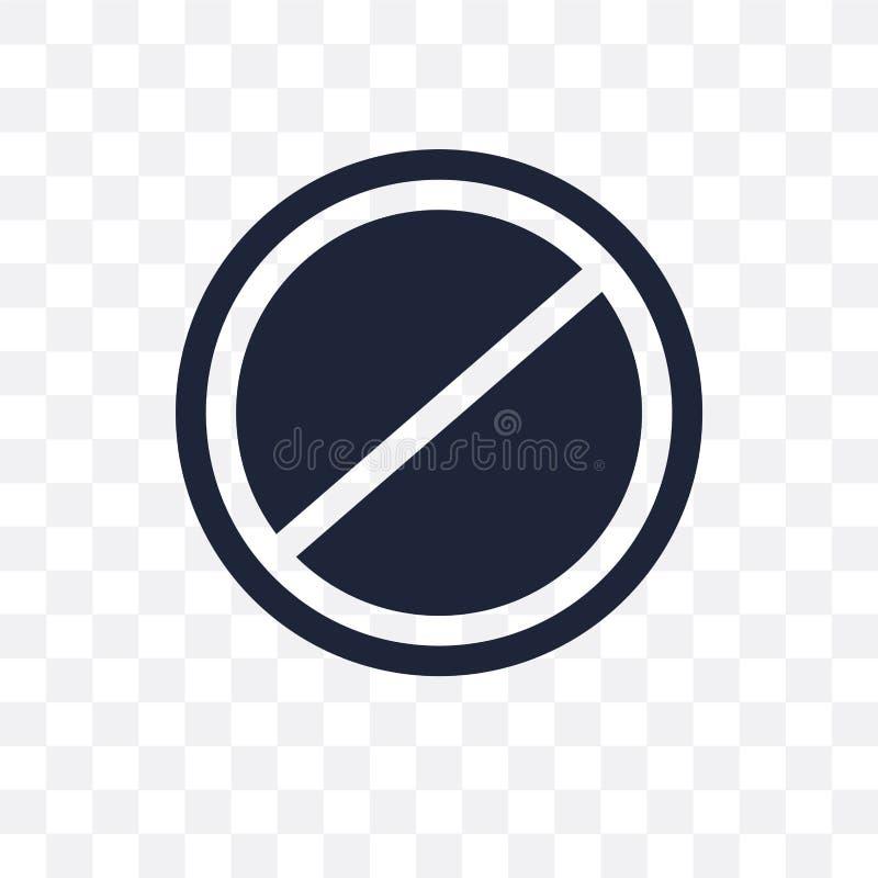 Запрещенный значок знака прозрачный Запрещенный дизайн fr символа знака бесплатная иллюстрация