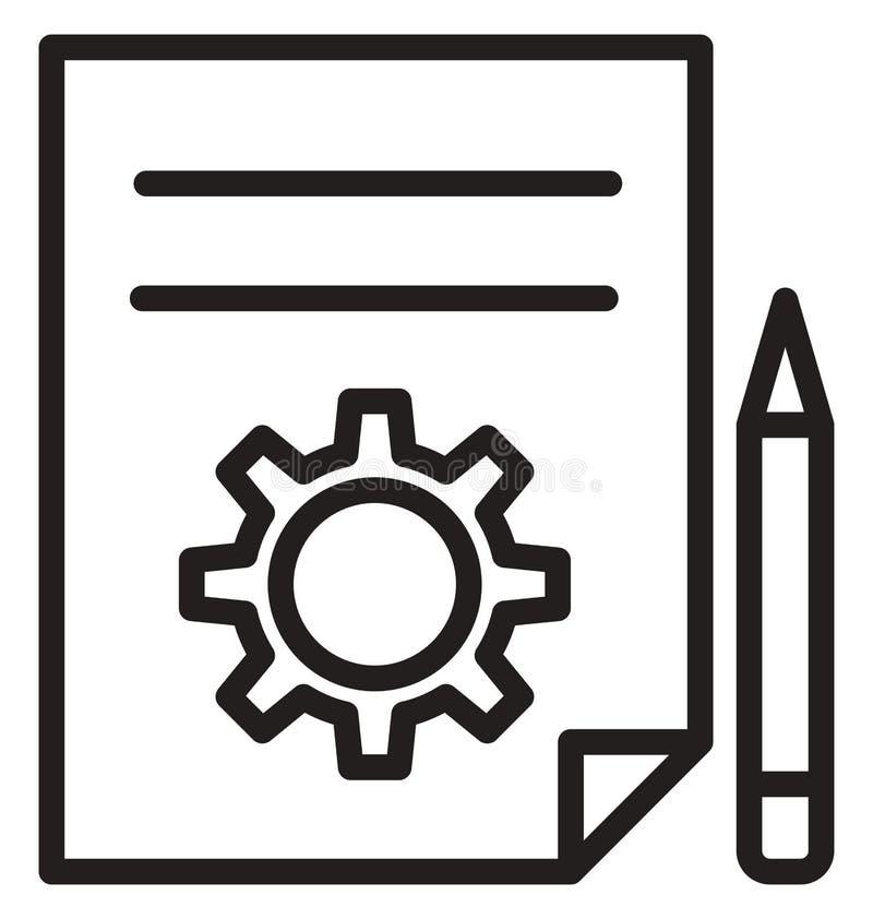 Запроектируйте план, линию изолированный значок потока операций вектора можно легко доработать и редактировать иллюстрация вектора