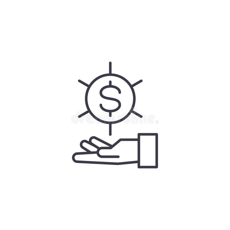 Запрос для концепции значка фондами линейной Запрос для фондов выравнивает знак вектора, символ, иллюстрацию иллюстрация вектора
