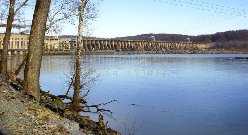 Запруда Conowingo на Реке Susquehanna, Мэриленде, США стоковое изображение