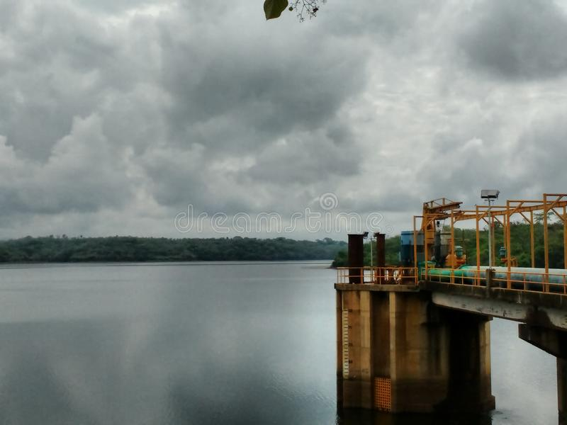 Запруда и депо воды на негре Burro стоковое изображение rf