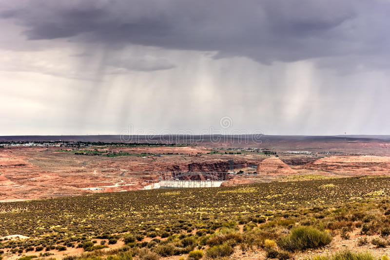 Запруда каньона Глена стоковое фото