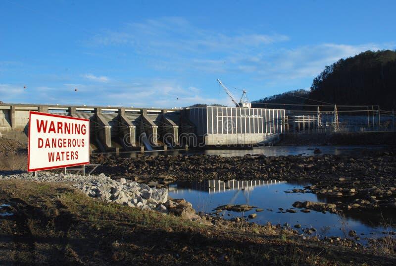 Запруда Chilhowee на Реке Little Tennessee стоковые изображения rf