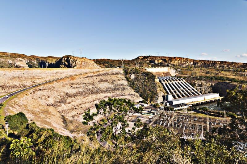 Запруда Furnas в минах Gerais, Бразилии стоковая фотография