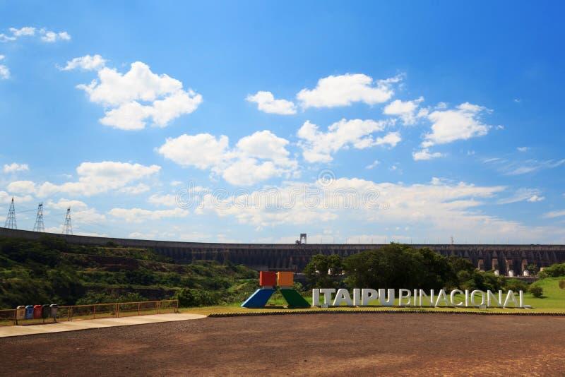 Запруда Itaipu Binacional, Бразилия, Парагвай стоковые фото