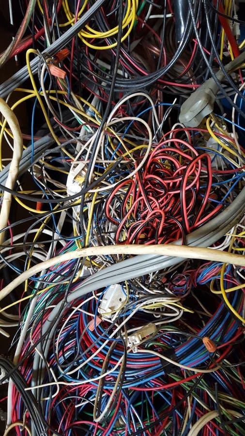 Запутанные проводы стоковое изображение