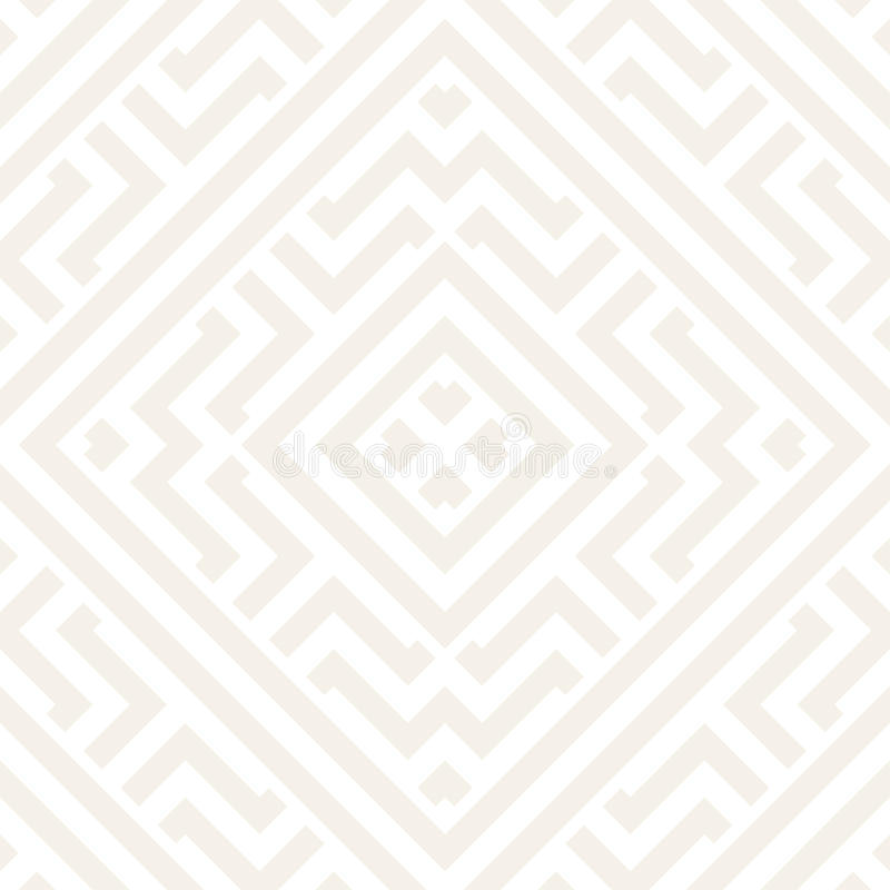 Запутанный лабиринт выравнивает современный график Абстрактный геометрический дизайн предпосылки вектор картины безшовный иллюстрация вектора