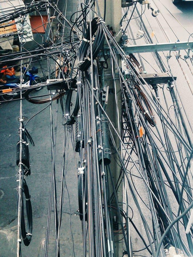Запутанный кабель стоковое фото rf