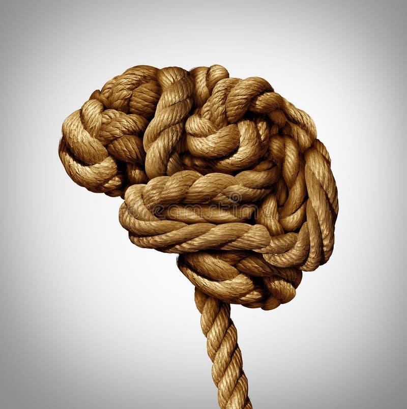 Запутанный мозг иллюстрация вектора