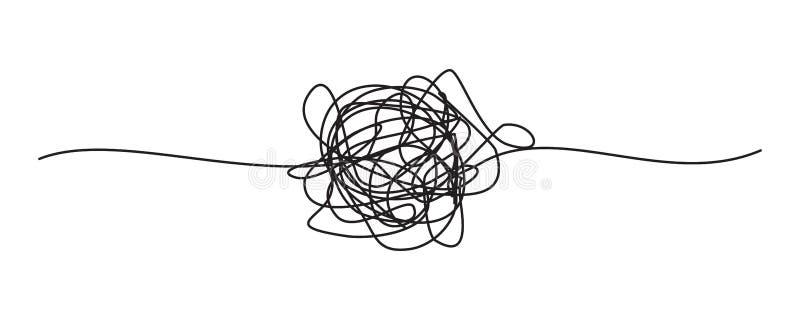 Запутанный grungy круглый scribble бесплатная иллюстрация