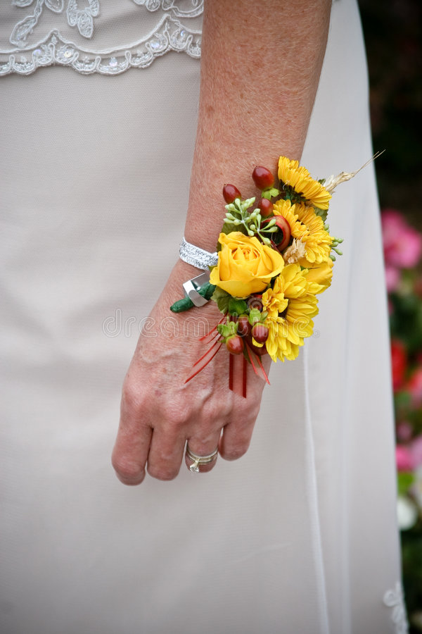 запястье руки женщины корсажа стоковая фотография rf