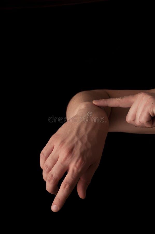Запястье руки стоковое изображение rf