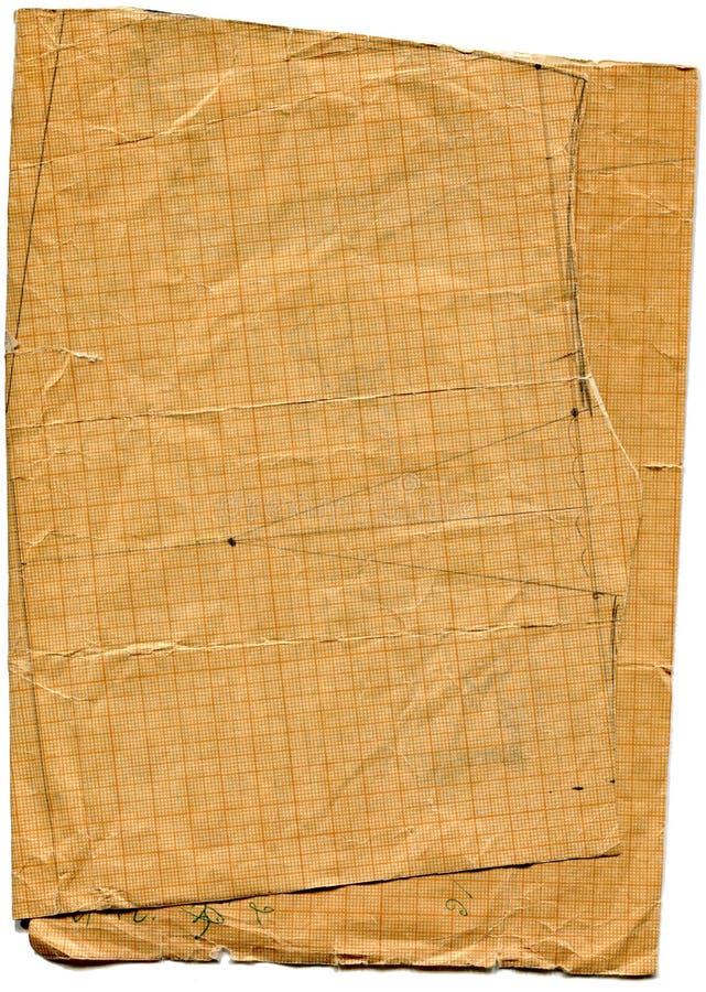 запятнанная бумага пакостной диаграммы старая сорванной стоковая фотография