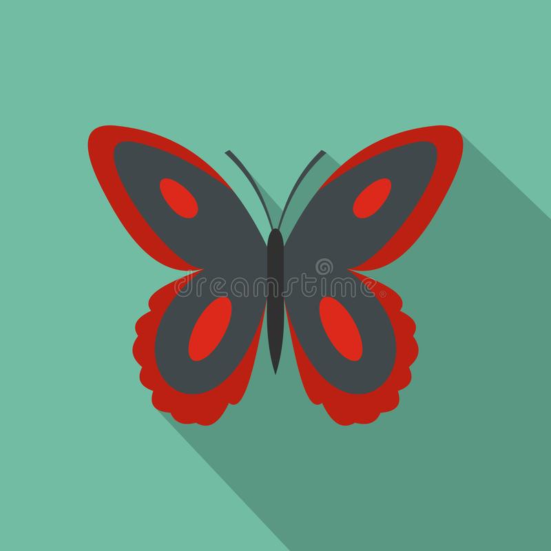 Запятнанный значок бабочки, плоский стиль иллюстрация штока