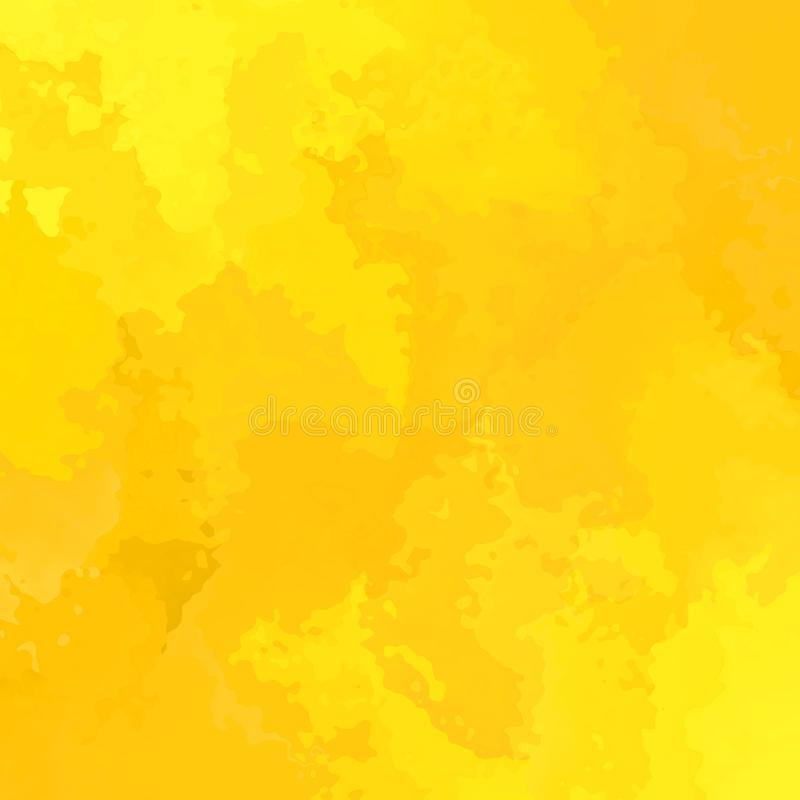 Запятнанный конспектом цвет квадратной предпосылки солнечный желтый  иллюстрация вектора