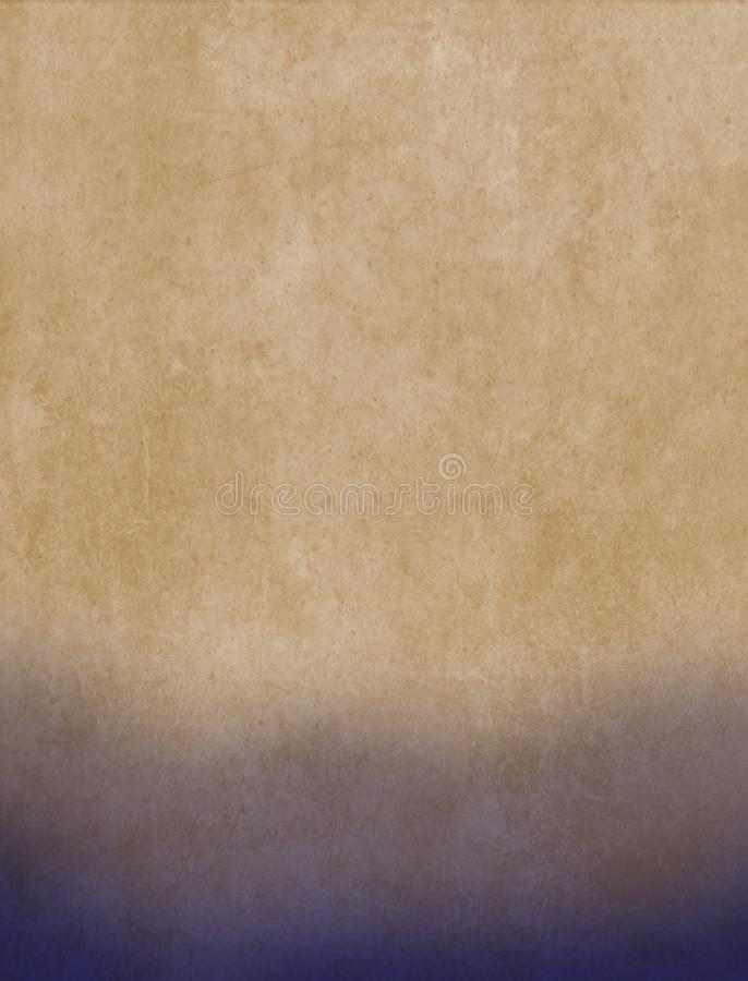 Запятнанный лист бумаги в желтом и голубом стоковое фото